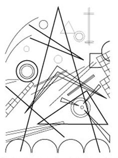Free Coloring Pages Of Kandisky for Kandinsky Coloring Pages Kandinsky For Kids, Wassily Kandinsky, Pattern Coloring Pages, Free Coloring Pages, Art Adulte, Art Games For Kids, Art Worksheets, Art Club, Art Plastique