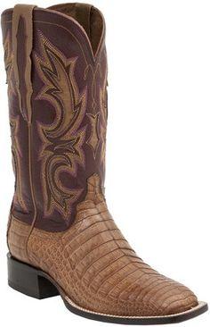 947d7e8c9fb52b Lucchese M2679 Mens Tan Ultra Belly Caiman Crocodile Boots Caiman Boots