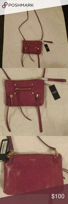 "Boktier Logan Wristlet Sangria Crossbody Leather Beautiful sangria pink color with 3 tassel zippers. It has Boktier on the back with one exterior pocket, one interior zip and one slip. A dust bag is packaged inside to protect your asset. You can wear as a crossbody or wristlet.   Goldtone hardware Top zip closure Height 5 3/4"" Length 8 1/4"" Strap Drop 23"" Botkier Bags Crossbody Bags"