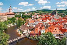 Český Krumlov, a UNESCO world heritage site.