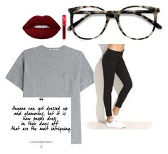 """Toke"" by krista-hollier on Polyvore featuring T By Alexander Wang, Ace and Lime Crime"