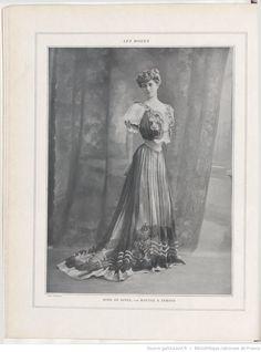 Les Modes : revue mensuelle illustrée des Arts décoratifs appliqués à la femme | 1906-01 | Gallica