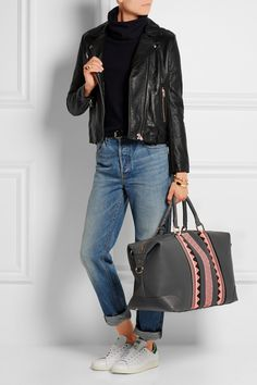 Eddie Harrop | The Voyager textured-leather weekend bag | NET-A-PORTER.COM