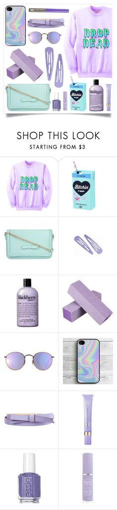 """""""Let's Get Things Done"""" by racanoki ❤ liked on Polyvore featuring As Is, ZALORA, philosophy, Ray-Ban, Kate Spade, Tatcha, Essie, Kate Somerville, Urban Decay and RaCaNoKi"""