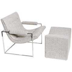 1960's Milo Baughman lounge chair and ottoman. From Architectural Anarchy on 1st dibs. Handsome, but $3800??