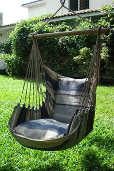 - Beautiful Extra Large Hammock Chair That is Mold and Fade Resistant - Artisan Hand Crafted Fabric to Last for Years of Enjoyment - Includes Two Matching Pillow Shams (Requires 2 Pillows to fill Backyard Hammock, Hammock Ideas, Hammock Beach, Eno Hammock, Portable Hammock, Indoor Hammock, Camping Hammock, Diy Camping, Hammocks