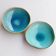 Bowl : Ceramic Ice Cracking Effect ~ Color Dining Set / Fish Bowl / Dog Bowl / Accessory Dish / Smoking Bowl