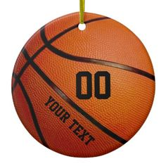 Name, Jersey Number Basketball Christmas Ornaments