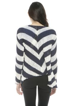 Hand Knit Stripe Sweater