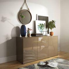 Komoda Skandica STOR w kolorze capuccino z połyskiem Komodo, Cabinet, Storage, Interior, Room, Inspiration, Furniture, Home Decor, Ideas