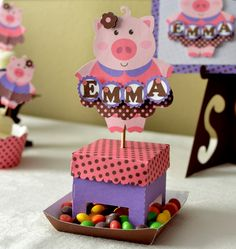 Banner Boy Pig Birthday Party Decoration 2D  by bcpaperdesigns, $15.00