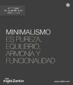 #Zarkin #Interiorismo #Minimalismo