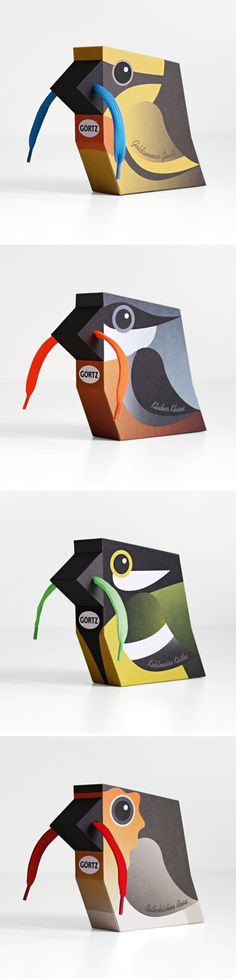 Shoelace Birds #empaque #diseño