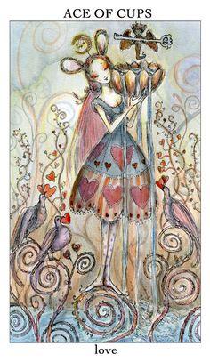 Paulina Cassidy creates wonderful, whimiscal tarot card decks.