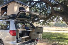 Camping Van Toyota Sienna Www Bigfoottents Com Family