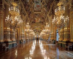 Palais Garnier, Grand Foyer, Paris, France, 2009, by Ahmet Ertug Grand Foyer, Ville France, Paris City, City Lights, Rococo, Paris France, Versailles, Architectural Association, Opera Garnier Paris