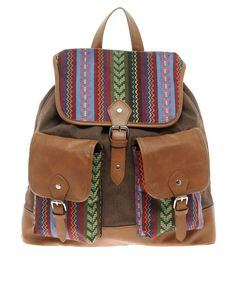 Asos Aztec Patch Backpack by ASOS