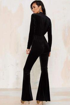 Bell It Like It Is Velvet Jumpsuit - Clothes | Rompers + Jumpsuits | Party Shop