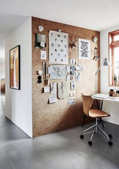 cork wall // home office