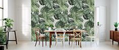 Botany Monstera - Tapet för alla rum och miljöer. - Photowall