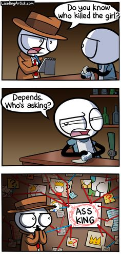 A comic about cracking a case.. tap to view the full comic!