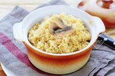 preprar quinoa con champiñones en la Thermomix