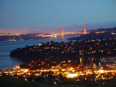 A view of the Golden Gate Bridge from Mount Tiburon Tiburon California, California Dreamin', Nevada Desert, College Roommate, Marin County, Life List, Life Is An Adventure, Neverland, Weekend Is Over
