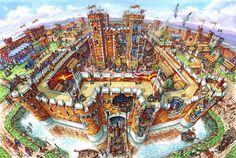 castle cutaway - Google Search