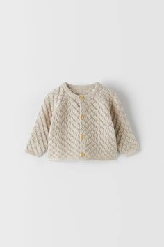 TRICOT BODY MET AJOUR | ZARA Nederland / Netherlands Knit Jacket, Knit Cardigan, Zara, Baby Outfits Newborn, Floral Shorts, Knitwear, Overalls, Pullover, Wool