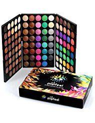 120 Farben Eye Shadow Set | ZEZKT-Beauty Lidschatten Palette Professionelles Makeup Set Schimmert und Matt Hautfarben