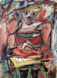 Woman V painting by the famous American Abstract Expressionist painter Willem de Kooning also displays paintings, biography, art quotes and Willem De Kooning, Jasper Johns, Action Painting, Mark Rothko, Jackson Pollock, De Kooning Paintings, Franz Kline, Robert Motherwell, Expressionist Artists