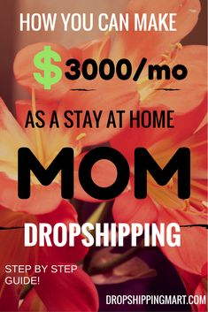 In this we will discuss the ins and outs of dropshipping. Readers will come to understand the importance of marketing a niche, finding a place within the market, and time management. Eventually, readers will learn how to profit from Work From Home Moms, Make Money From Home, Way To Make Money, Home Based Business, Business Tips, Online Business, Business Products, Business Education, Business Management