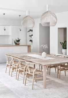 Modern Farmhouse Dining Room Decor Ideas – Best Home Decorating Ideas - Page 26 Dining Room Design, Dining Room Furniture, Dining Rooms, Dining Tables, Outdoor Dining, Dining Room Modern, Large Dining Room Table, Open Kitchen And Living Room, Kitchen Colors