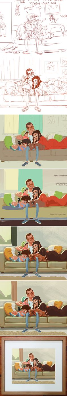 FamProcessLong by DannyMcGillick ★ || CHARACTER DESIGN REFERENCES (www.facebook.com/CharacterDesignReferences & pinterest.com/characterdesigh) • Love Character Design? Join the Character Design Challenge (link→ www.facebook.com/groups/CharacterDesignChallenge) Share your unique vision of a theme every month, promote your art and make new friends in a community of over 20.000 artists! || ★