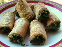 spinach and bocconcini rolls