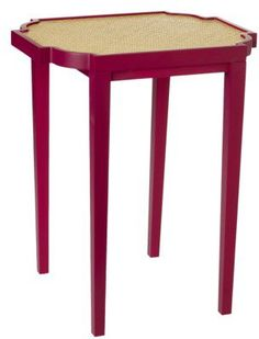 #Target                   #table                    #Threshold #Table #with #Woven #Plum/Red            Threshold End Table with Woven Top - Plum/Red                                 http://www.seapai.com/product.aspx?PID=892980