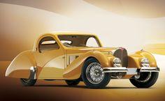 1937 Bugatti 57SC Atalante Coupe. hope by hengie.deviantart