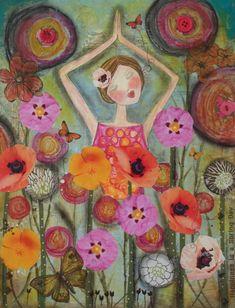 Carte de salutation au soleil 5 x 7 art PRINT par Southendgirlart