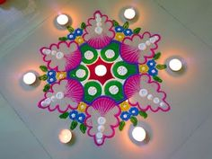 Very simple and easy rangoli design two minute - YouTube
