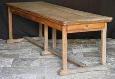 Large French Oak Refectory Table