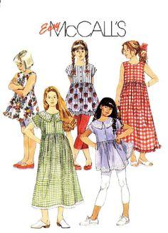 90s Girls' Summer Dresses or Tops Sewing by KeepsakesStudio