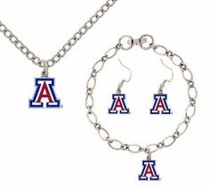 Arizona Wildcats jewelry set.