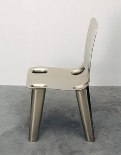 Nickel Chair 2007 Marc Newson, produced for the Gagosian Gallery, New York City