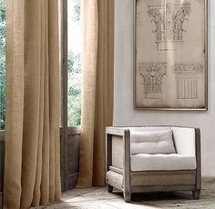 ETSY-  Any Color or pattern Burlap Curtains - Or any Other Fabric Linen, Hemp, Flax Anything Custom CURTAINS! INEXPENSIVE