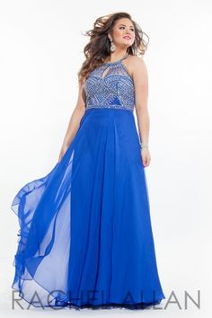 CHIFFON GOWN WITH EMBELLISHED NECKLINE AND BODICE. Order today by calling Everything for Pageants at 1-815-782-8877 and ask for our current promotions.