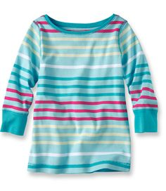Girls' Freeport Knit Boatneck Tee: Shirts | Free Shipping at L.L.Bean
