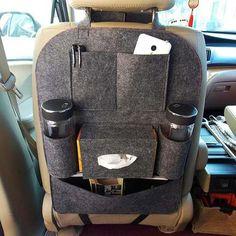 Auto Car Seat Storage Bag Back Ravel Hanger Styling Cover Organizer Backseat Car Organizer, Car Seat Organizer, Pocket Organizer, Hanging Organizer, Auto Jeep, Seat Storage, Car Gadgets, Car Hacks, Camping