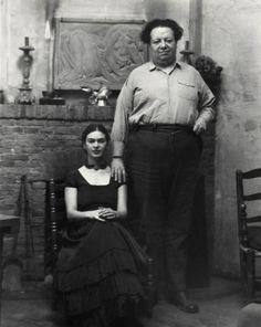 Diego Rivera and Frida Kahlo, San Francisco, California [photograph]