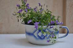 French Enamel Chamber Pot by LaManche on Etsy, $36.00