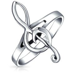Bling Jewelry Music To My Ears (115 HRK) ❤ liked on Polyvore featuring jewelry, rings, accessories, grey, sterling silver jewellery, band jewelry, grey jewelry, sterling silver rings and sterling silver jewelry